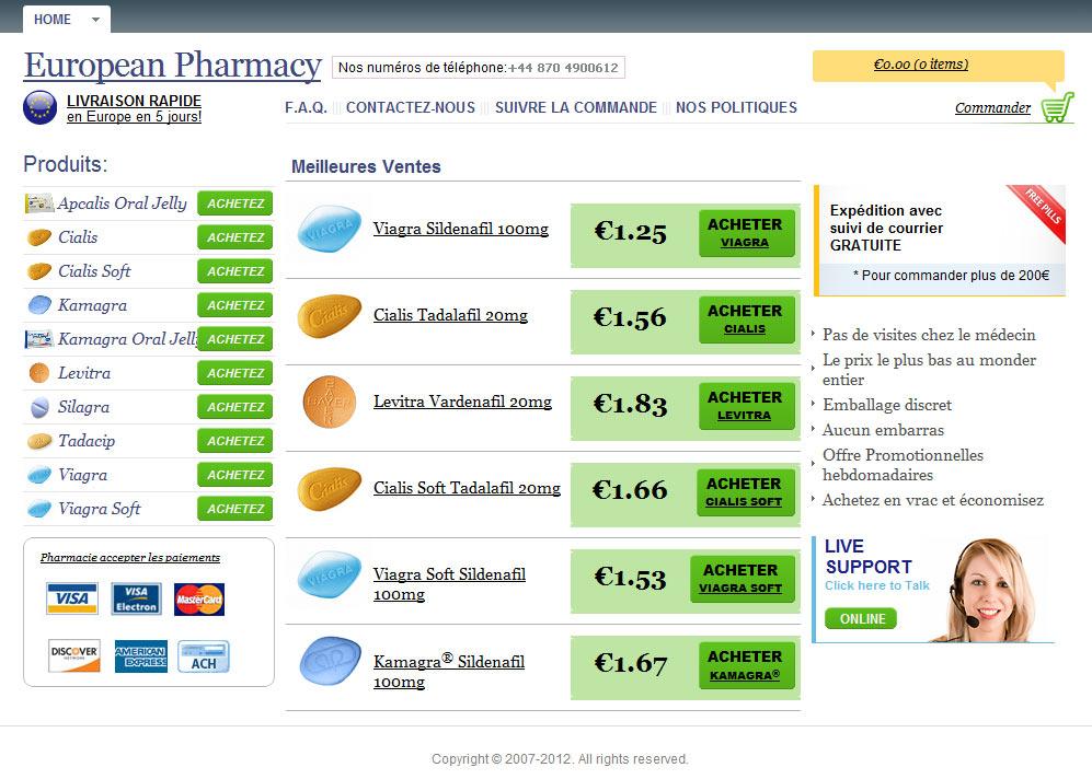 Cialis prix de vente en pharmacie